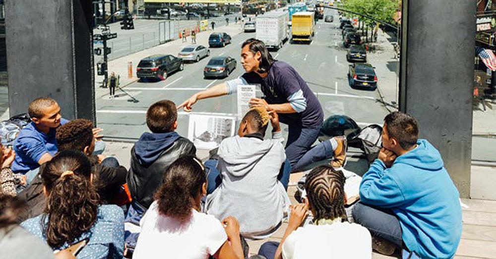 Figura 13. High-Line, excursión escolar.