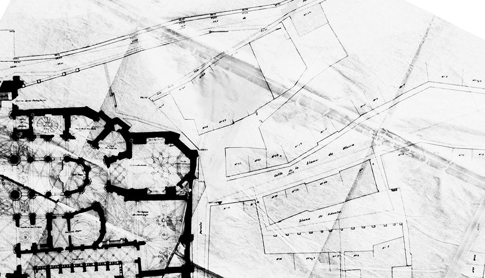 Figura 16: Plano histórico de 1893 con el trazado de referencia.