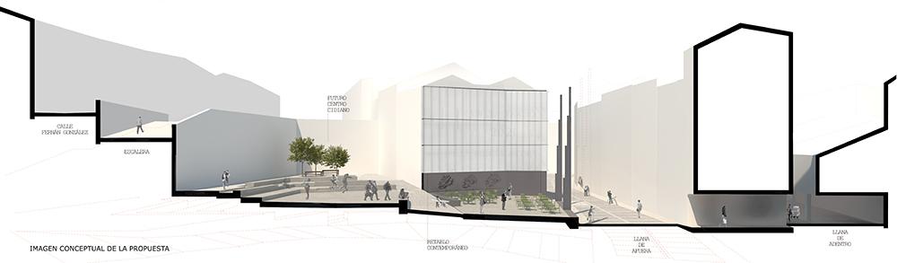 Figura 17: Sección de la propuesta. Imagen conceptual.