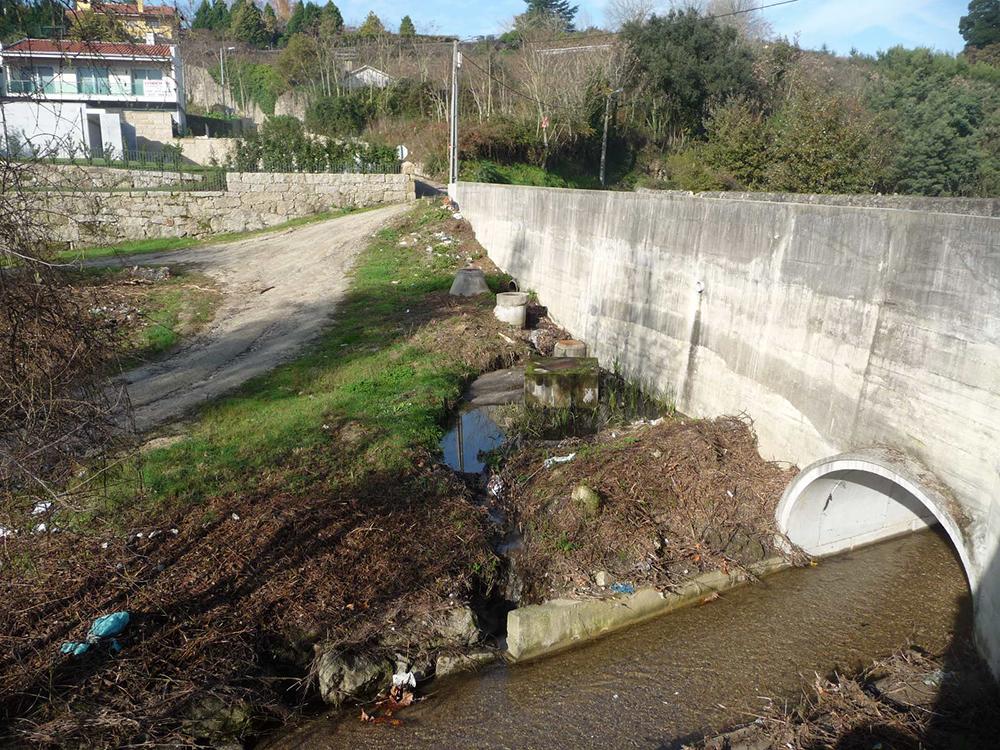 Figuras 2, 3 y 4. De izquierda a derecha, Puente de Frádegas, Camino central del parque y zonas inundables.