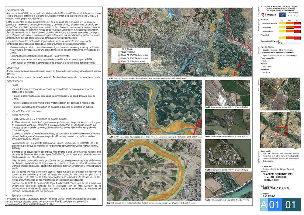 Figura 23. Ficha A0101, Plan de Deslinde del Dominio Público Hidraúlico del río Ebro. (Fuente: Plan Director de Infraestructura Verde de Zaragoza)