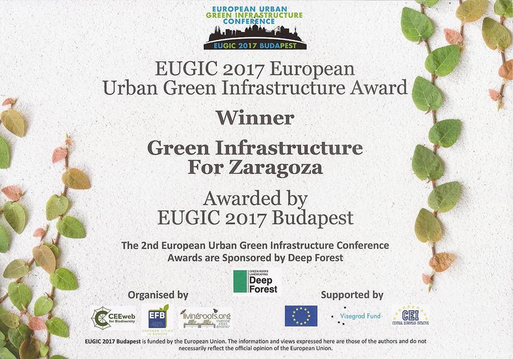 Figura 29. Premio EUGIC 2017 concedido a la IVZ.