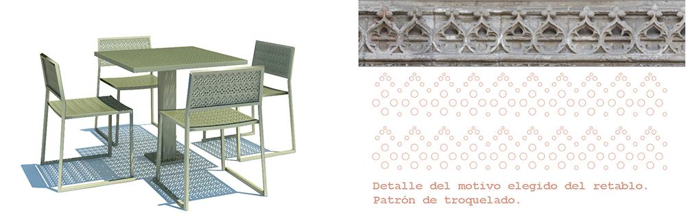 Figura 40: Ilustraciones del diseño de mobiliario urbano.