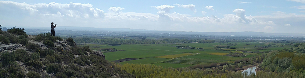 Figura 5. Espacio de huerta y cultivos de regadío entre el Galacho de Juslibol y el río Ebro. (Fuente: Atalaya)