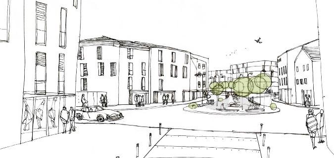 Figuras 13 y 14. 3 – Avenida de Porto Milena, con vistas al la ciudad nueva y al bulevar verde central (izquierda). 4 - Bulevar verde de Porto Milena, con jardines botánicos y recorrido hacia corredor verde (derecha)
