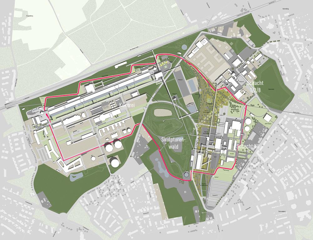 Figura 7. Implementación del Plan de Zollverein Park, estado en diciembre de 2017
