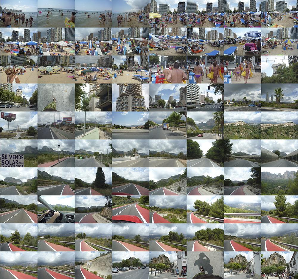 Figura 2. Secuencia recorrido Benidorm-Castell de Guadalest, 2006. Foto: Francisco Leiva