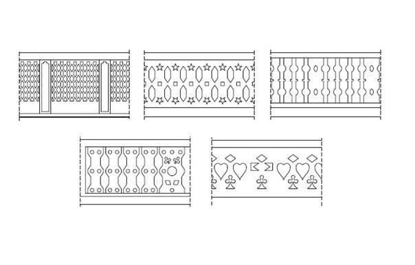 Figura 36. Tipologías de celosías