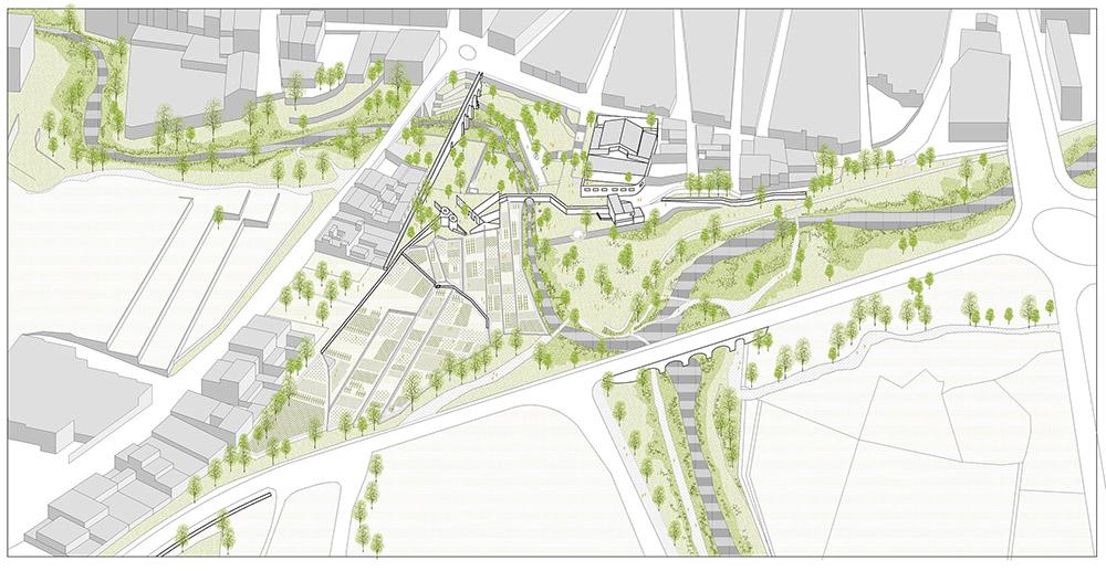 Figura 4. El entorno de la Fábrica de la Llum resulta estratégico para la mejora de la conectividad de la Infraestructura Verde a escala local y supramunicipal.