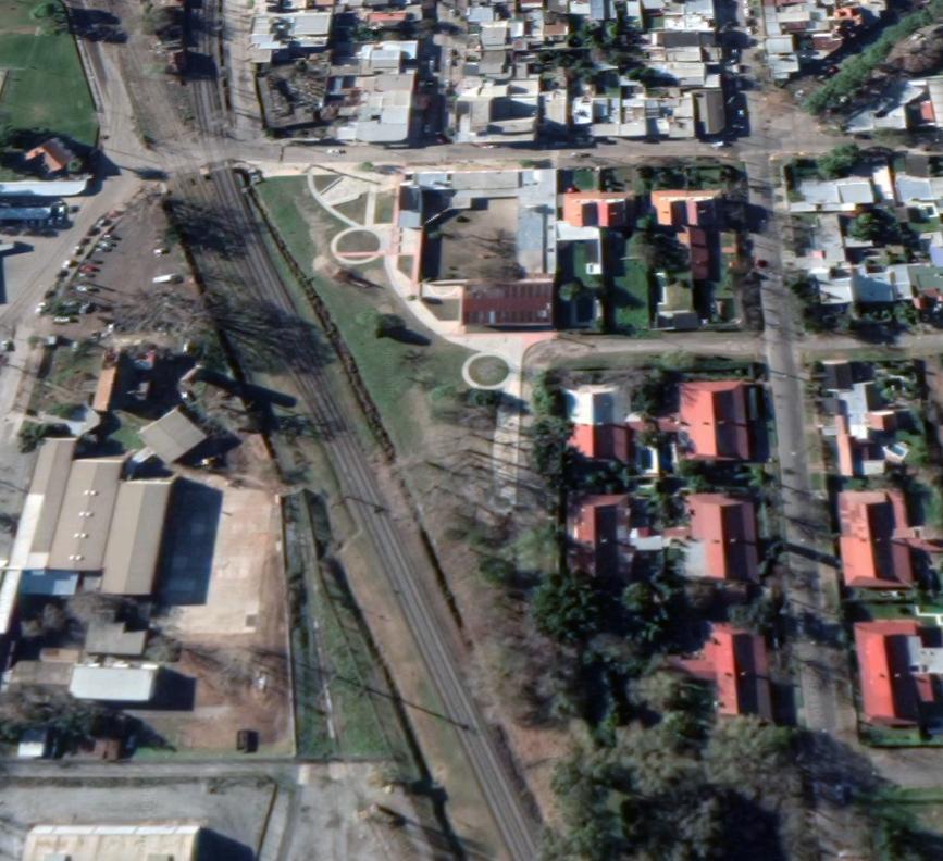 Figura 1. Foto aerea (google maps) estado actual primera etapa de construcción (pavimentos)