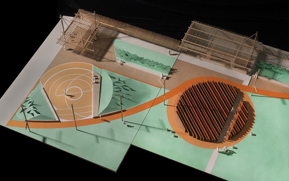 Figura 13. Maqueta de estudio (sector acceso calle Berutti) / Fotografia: Mariana Saraceni