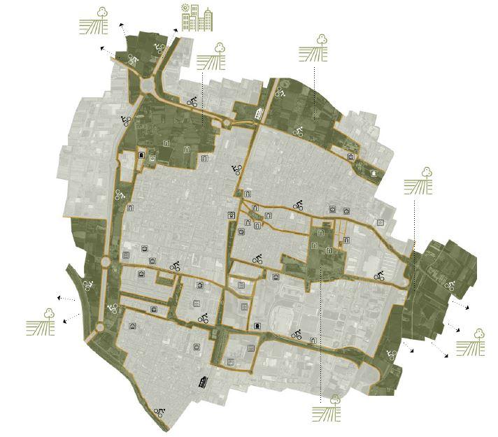 Figura 19. Plano de Infraestructura Verde Urbana de Alfafar. Producción propia