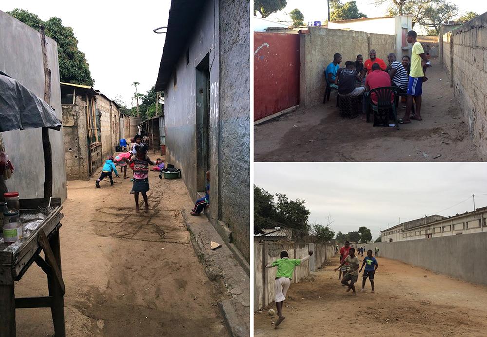 Figura 15. La vida pública se desarrolla en las calles de Chamanculo C, ya modificadas tras las obras. Fotografía: ASF.