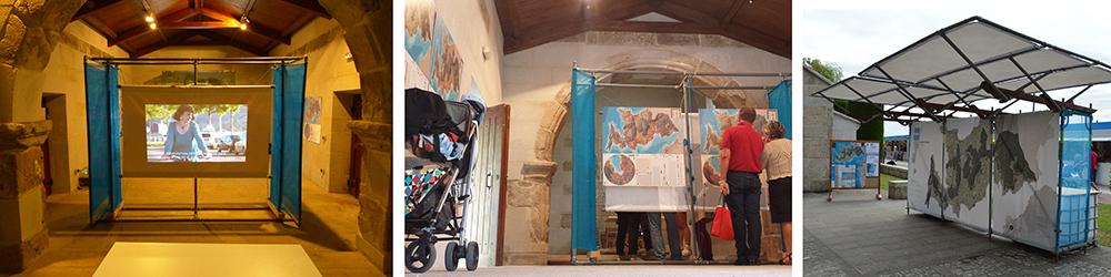 Figura 8. Imágenes de la exposición pública de Camiños Seguros do Morrazo, fuente: Estudio Rurban