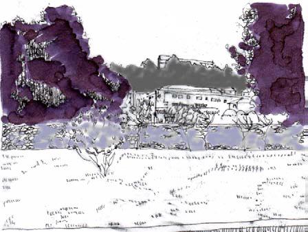 Figura 16.Vistas de primavera e invierno desde el punto A, de los jardines del Pazo de Castrelos