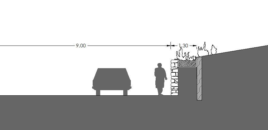 Figura 26. Ejemplo de propuestas de intervención en los muros tradicionales.