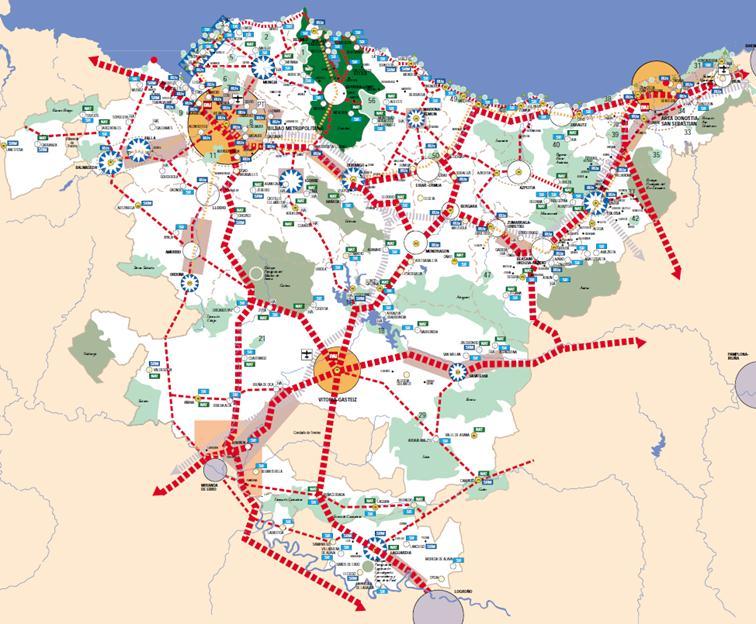 Figura 1. Modelo territorial de las Directrices de Ordenación Territorial de 1997