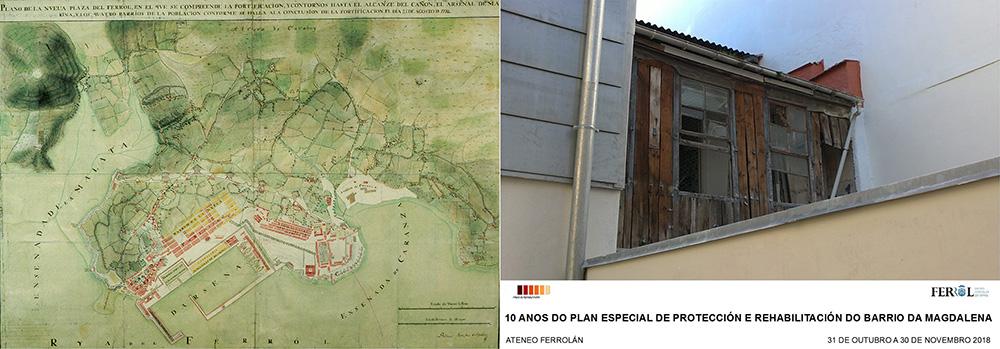 Figura 14. Plano de Sanchez Aguilera. Exposición Plan Especial de A Magdalena