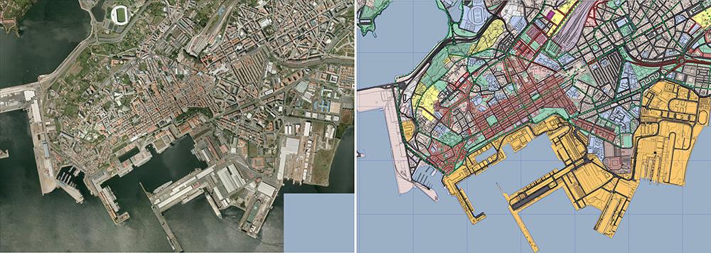 Figura 3. El ámbito central de la ciudad