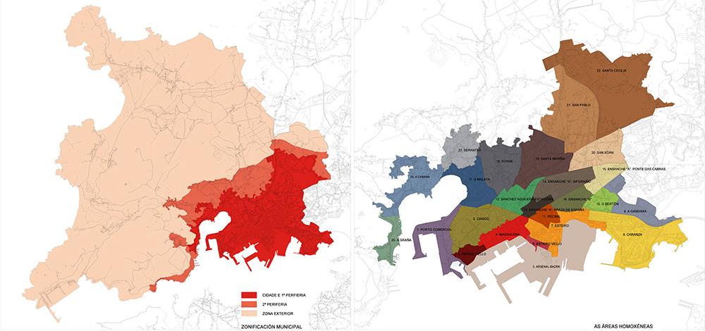 Figura 6.Zonificación municipal. Áreas Urbanas Homogéneas