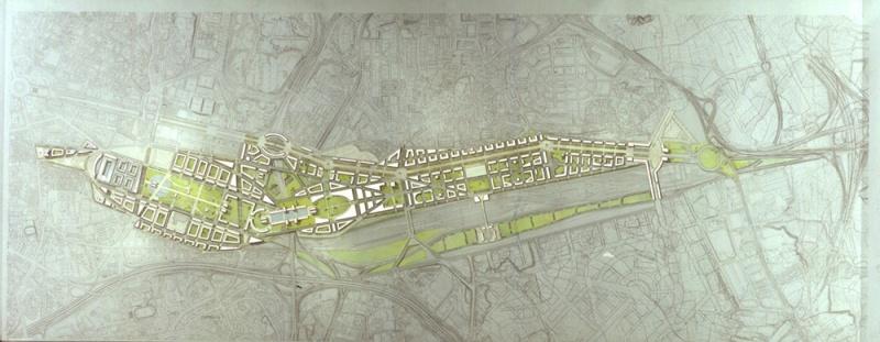 Proyecto de Prolongación del Paseo de la Catellana, 1997. ©Ricardo Bofill Taller de Arquitectura